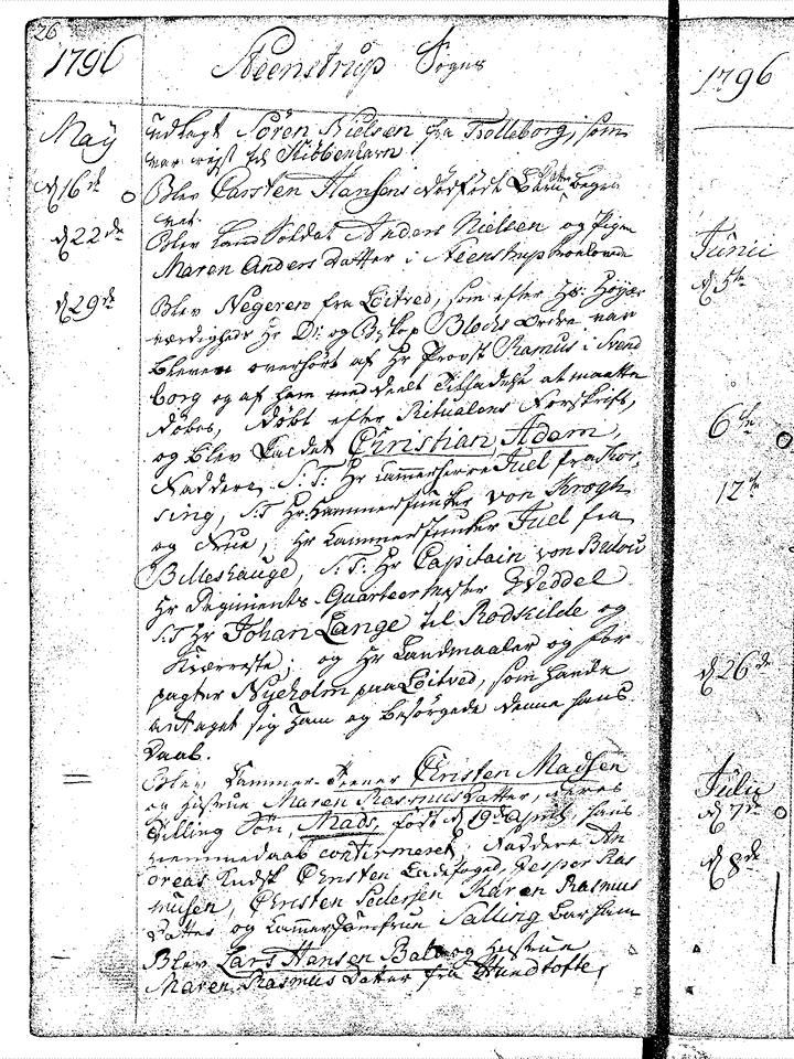 Stenstrup kirkebog 1796
