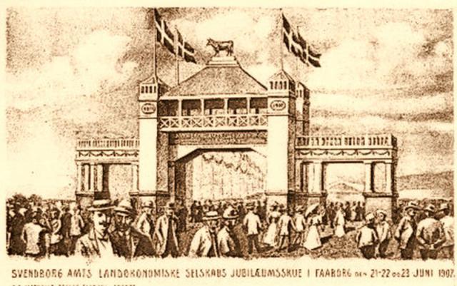 Jubilæumsdyrskue i Fåborg 1907