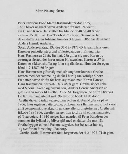 """Beirholm"" - Matr. nr. 19a ang. fæste - Åstrup sogn"