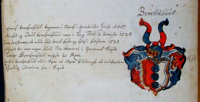 Brockenhuus  -slægten - Anne Eilersdatter Rønnow's (+1609) slægtebog (LAO)