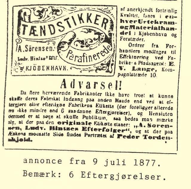 Annonce 9. juli 1877