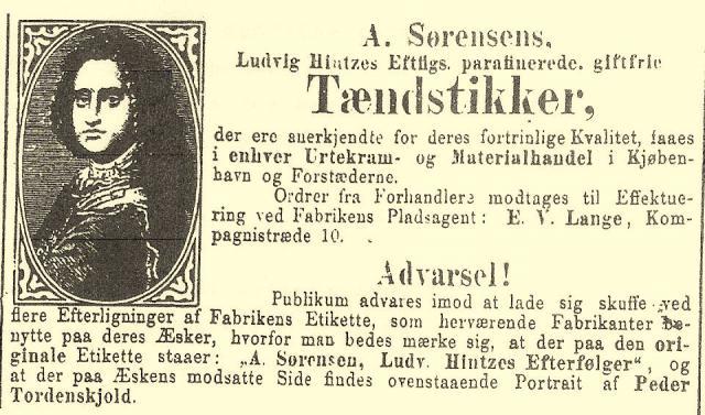 Annonce fra 13. februar 1877