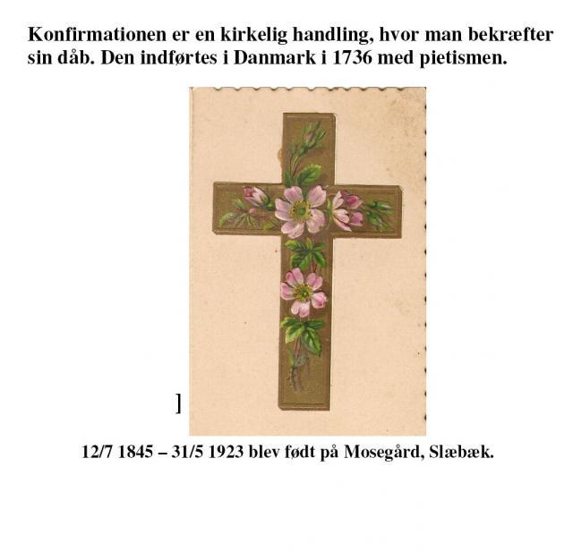 Konfirmation på Mosegård i Slæbæk