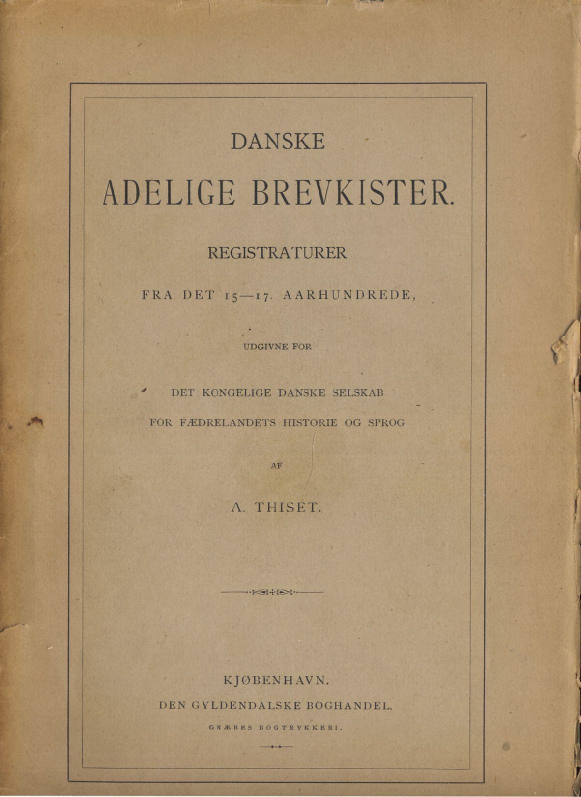 Danske Adelige Brevkister