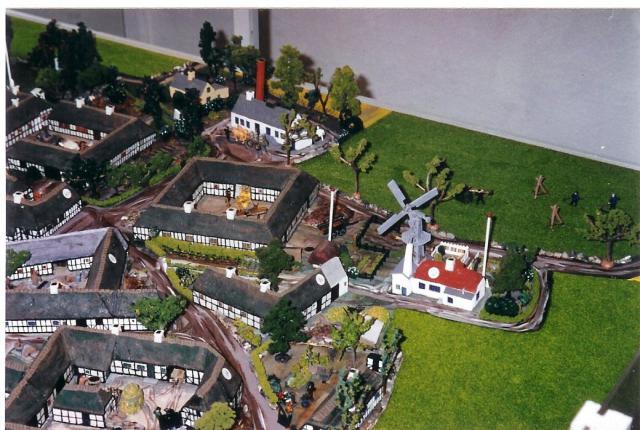 Model af Drejø By før branden i 1942