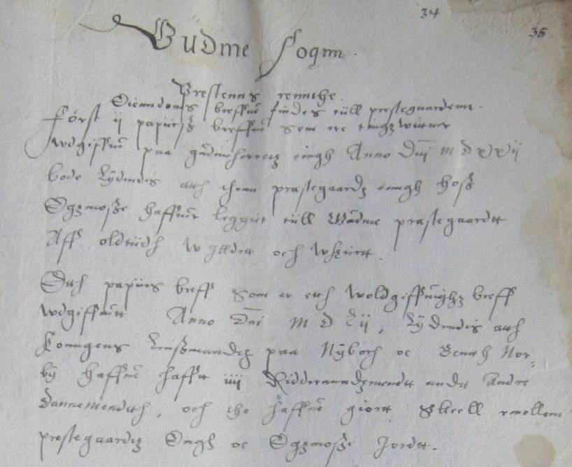 Egsmose - Gudme sogn - jordebog ca 1570