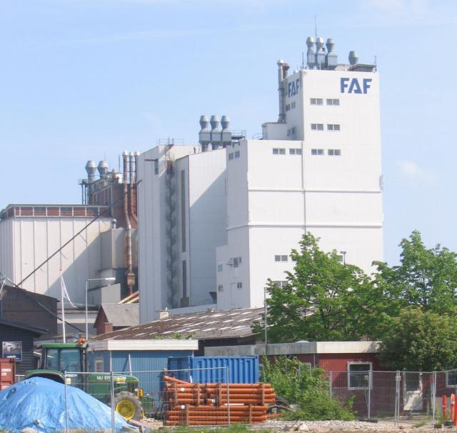 FAF's silo på Svendborg Havn