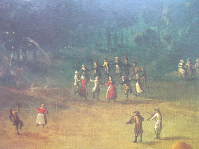 Bønder danser omkring 1790
