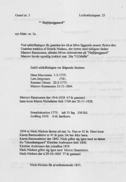 """Højbjerggaard"" - nyt matr. nr. 3a, Åstrup sogn"