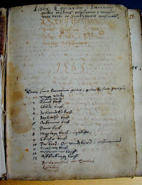 Breve tilhørende Svendborg Sct. Nicolai  1565