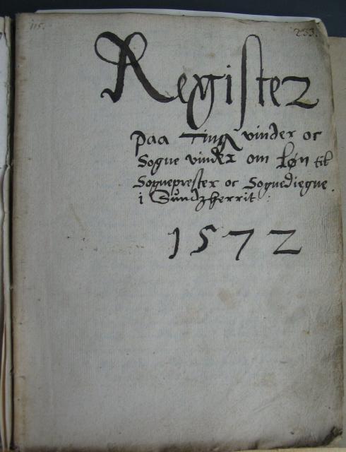 Breve om lønforhold i Sunds herred 1572