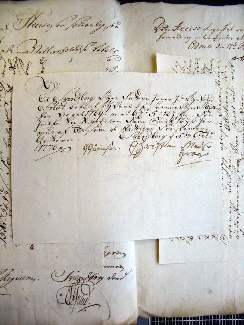 Svendborg Byes Acciseregnskab for Anno 1769(30)