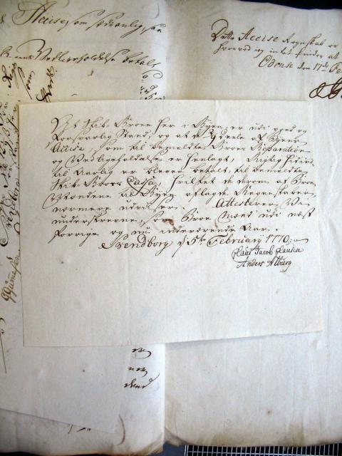 Svendborg Byes Acciseregnskab for Anno 1769(31)