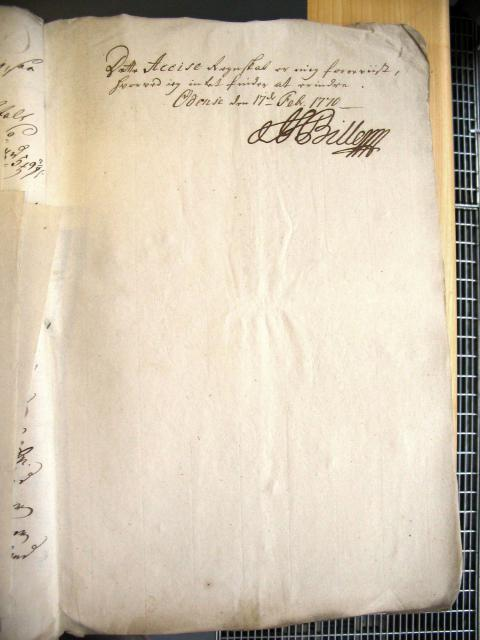 Svendborg Byes Acciseregnskab for Anno 1769 (32)