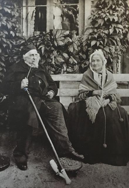 Vilhelm Birkedal og hustru som ældre