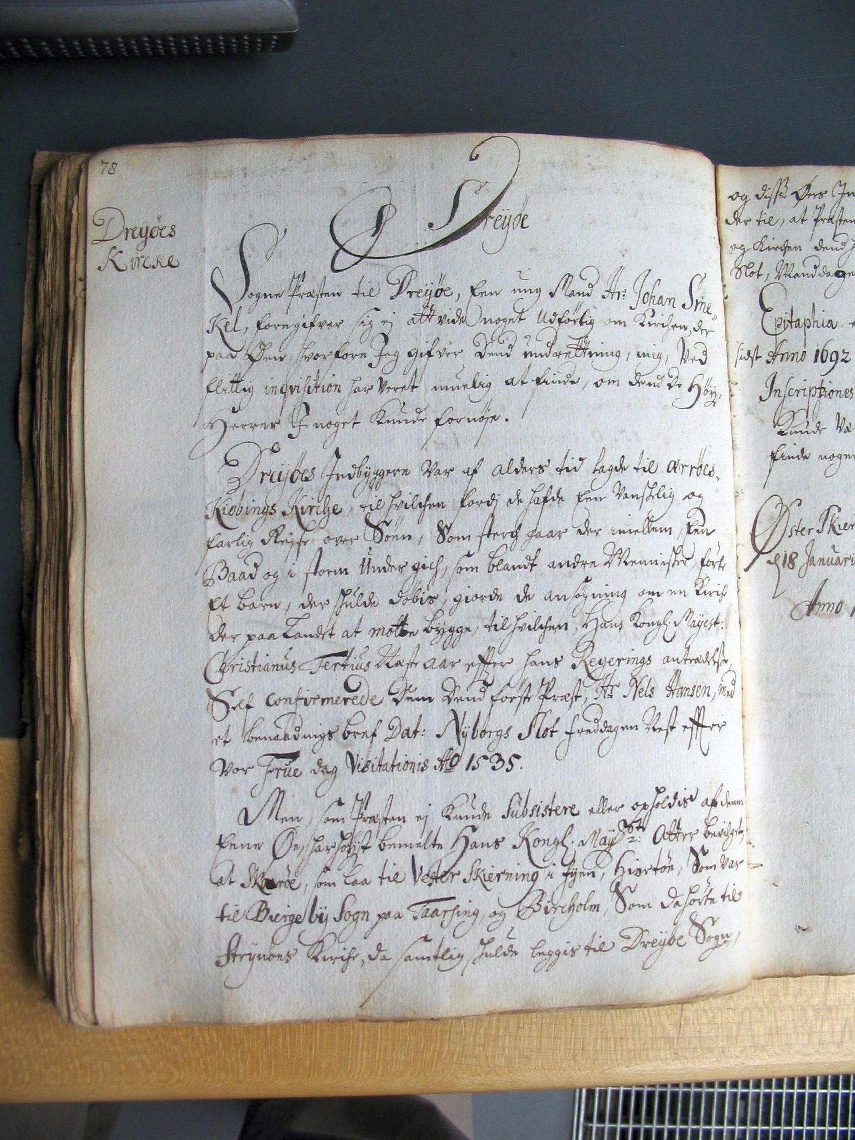 Indberetning om Drejø 1707
