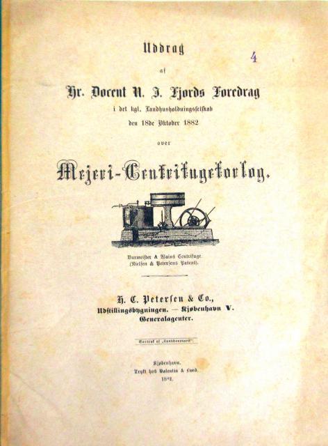 Docent N.J. Fjord centrifugen 1878
