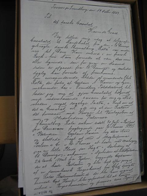 Skibsfører Anders Hansens papirer 1863-69 (2)