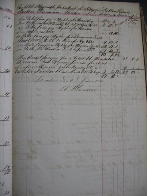 Regnskab - skonnert briggen ROTA 1867-68 (2)