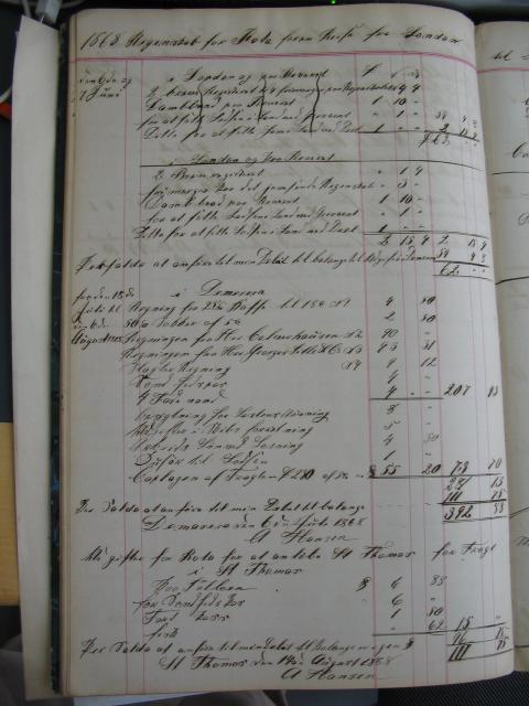 Regnskab - skonnert briggen ROTA 1867-68 (3)
