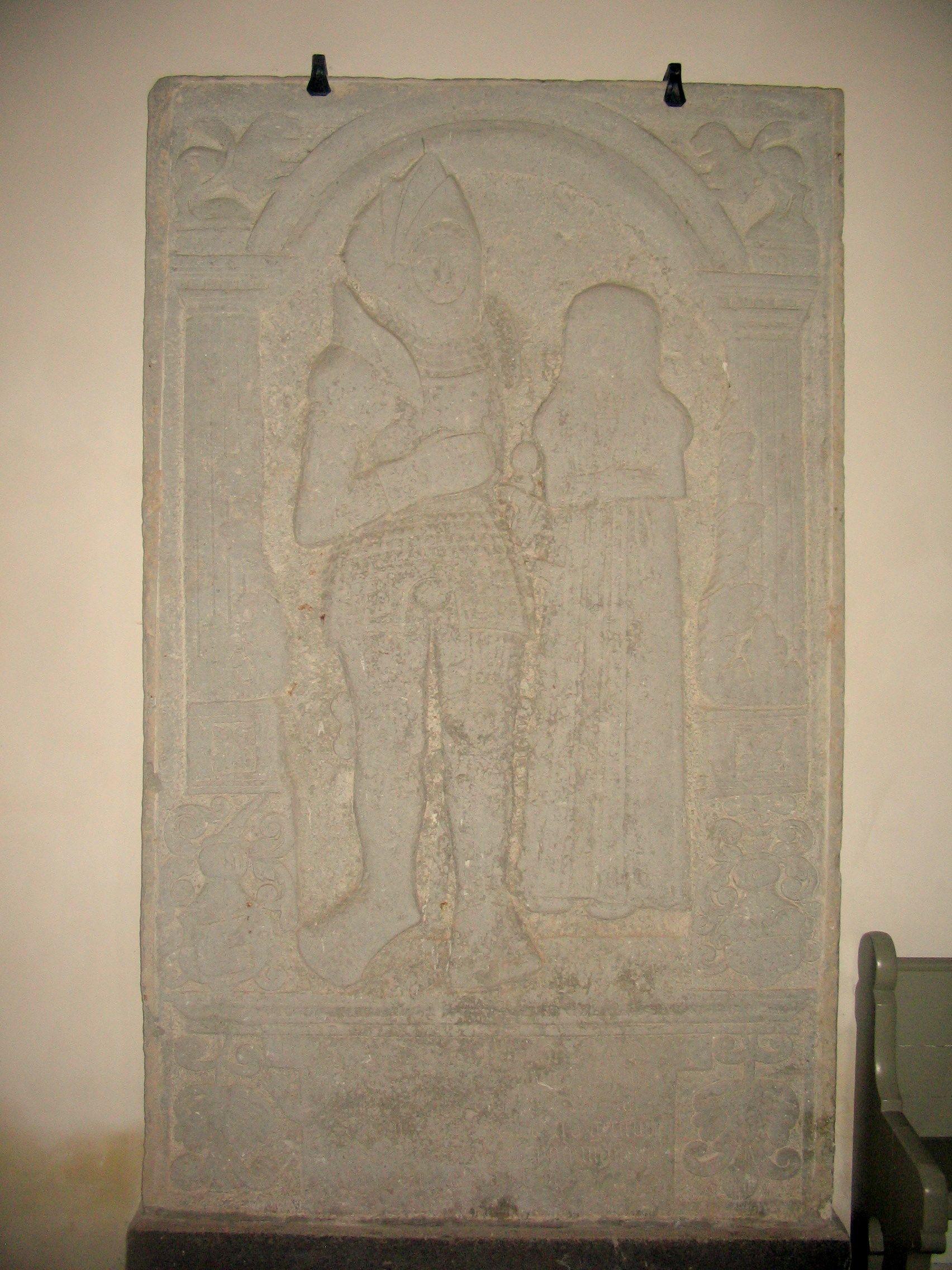 Ejerne til Nielstrup Johan Bjørn +1534 og Gertrud Parsbjerg +1560