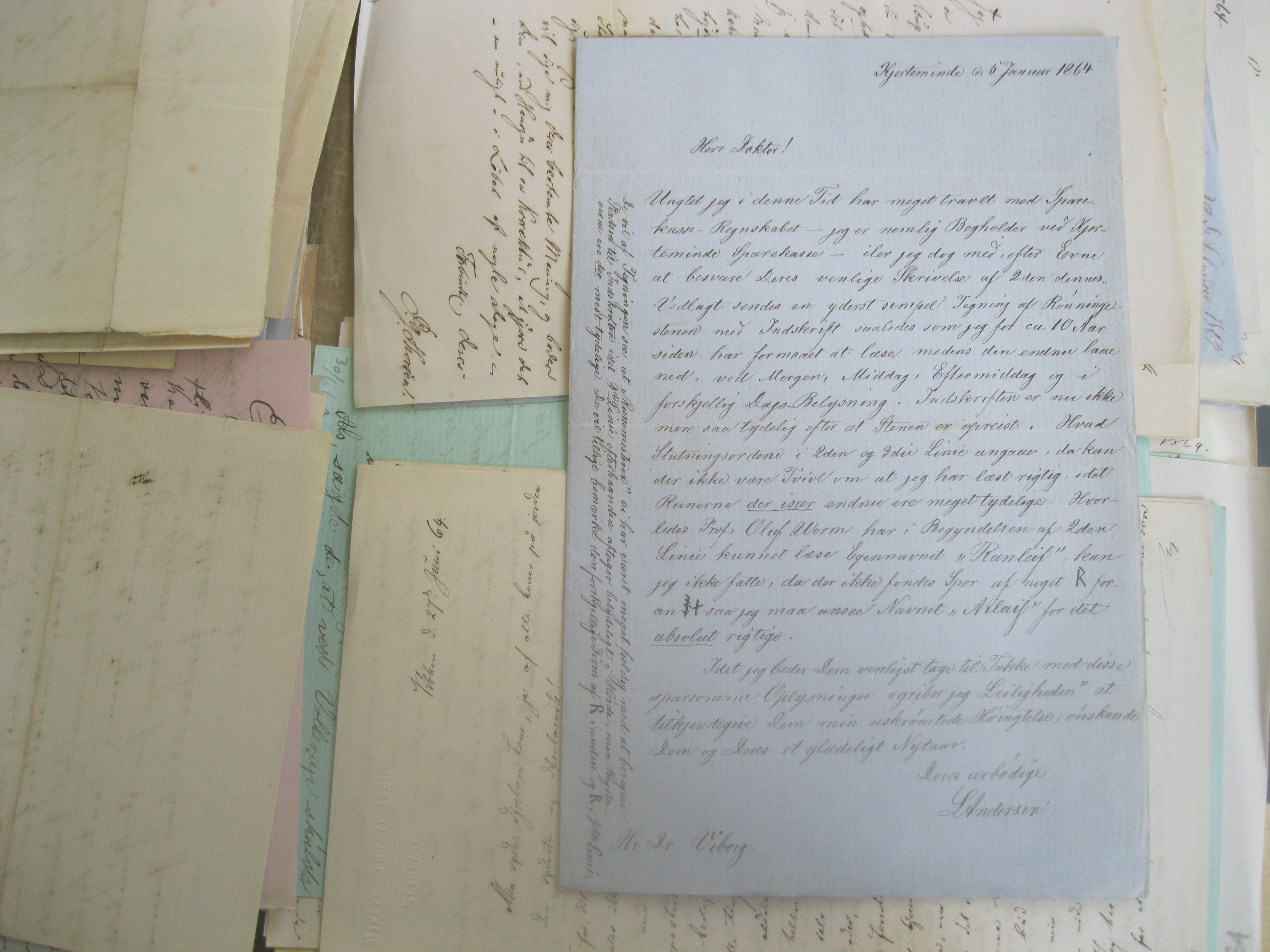 Brev 1864 fra bogholder L.Andersen Kerteminde Sparekasse