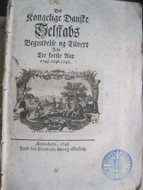 Det Danske Selskabs Begyndelse og Tilvækst - 1745-1747
