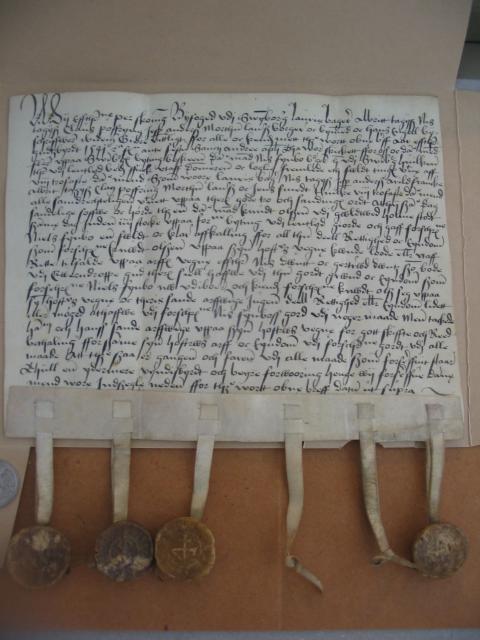 Knud Olsens arveafkald 1541