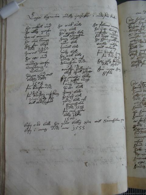 Lisbet Bryskes liste over adelige begravelser i Antvorskov Kloster