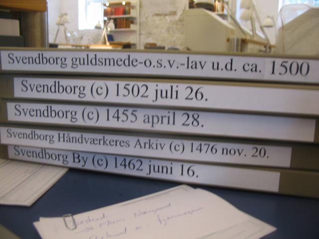 Pergamenter på Rigsarkivet