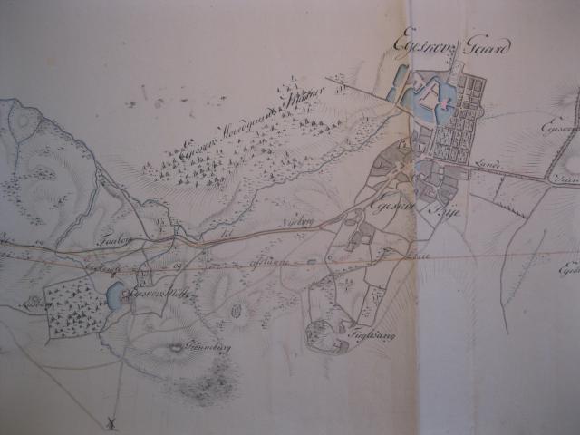 Kort over Egeskov by