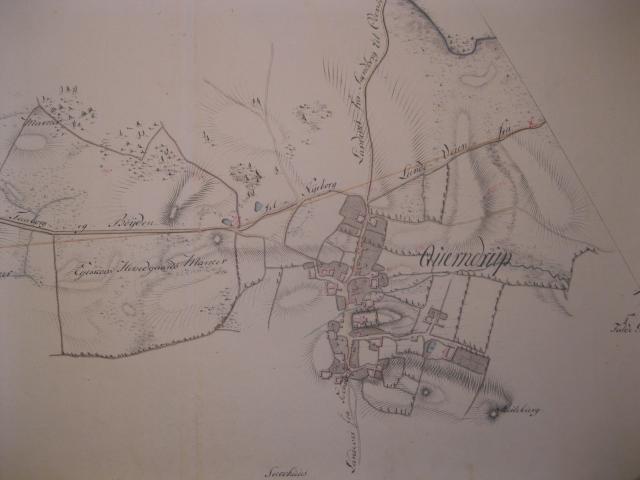 Kort over Kværndrup by