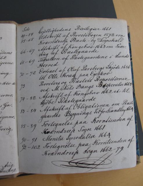 Sognepræst Mads Lægaards tegnebog 1660-80 - Indhold