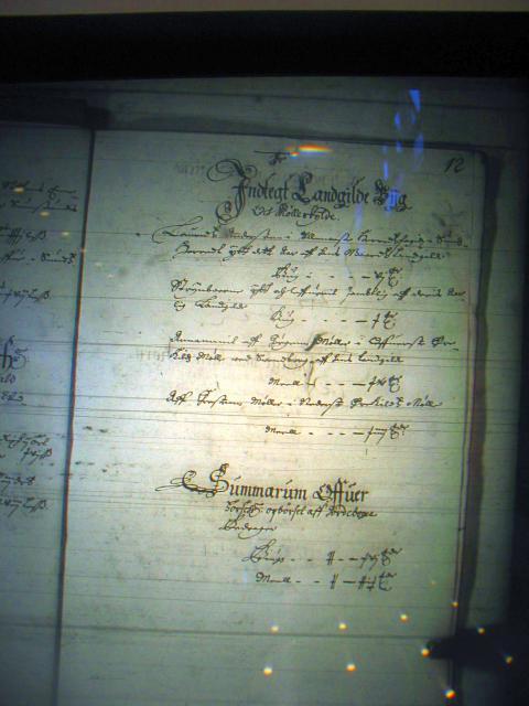 Nyborg len 1658-61 -  Indtægt af landgildebyg og mølleskyld