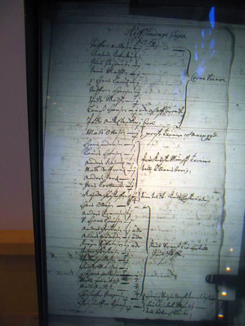 Mandtal Refsvindinge m.fl. sogne 1658