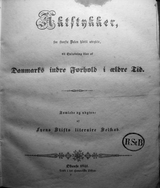 Dokumenter vedr. Svendborg by i almindelighed 1253-1562