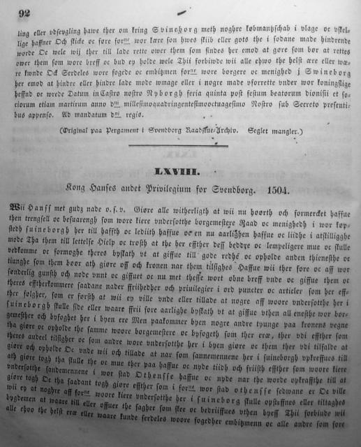 Dokumenter vedr. Svendborg by i almindelighed 1253-1562 (07)