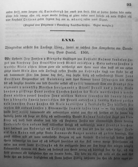 Dokumenter vedr. Svendborg by i almindelighed 1253-1562 (10)