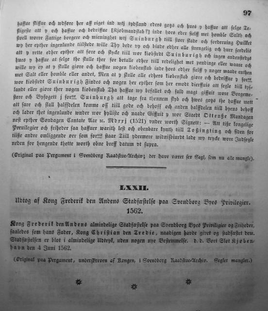Dokumenter vedr. Svendborg by i almindelighed 1253-1562 (12)