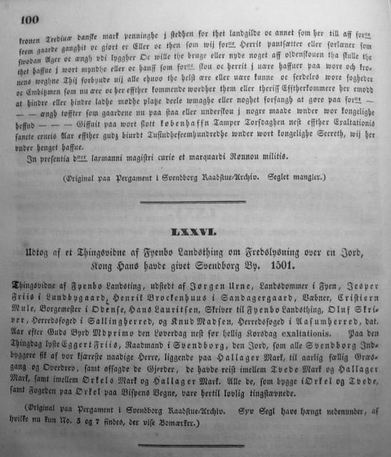 Dokumenter vedr. Svendborg by i almindelighed 1253-1562 (15)