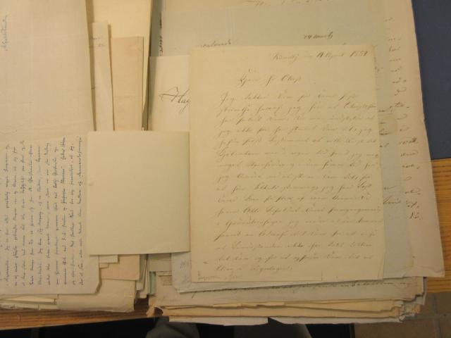 Brev 14.4. 1854 fra Jens Gregersen til A.F. Tscherning