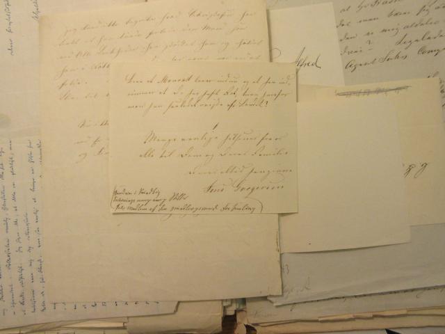 Brev - udat. 1865-66 fra Jens Gregersen til A.F. Tscherning om D.G. Monrad udvandring