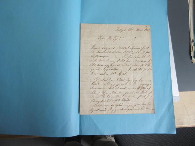 Brev 16.3. 1861 fra Dalby Højskole - lærer AC Poulsen Dal til docent Fjord