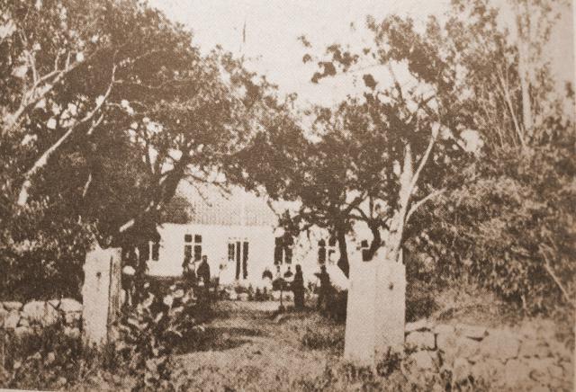 Sterregården ca 1875 - bondedigteren Mads Hansen med familie