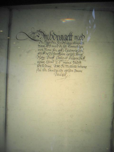 Nyborg lens regnskaber 1615 - landgilde reduktion til 110 bønder i Nyborg len