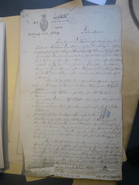 Deklaration fra Løjtved på vandings sted i Kildeløkken til Stenstrup bylaug 1859