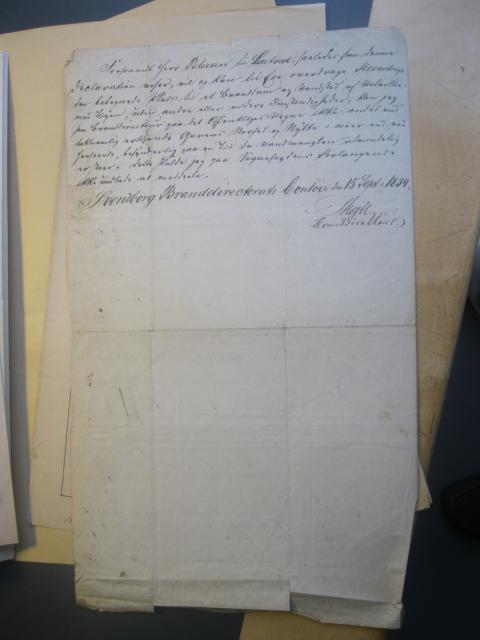 Deklaration på dam i Kildeløkken 1859 (2)