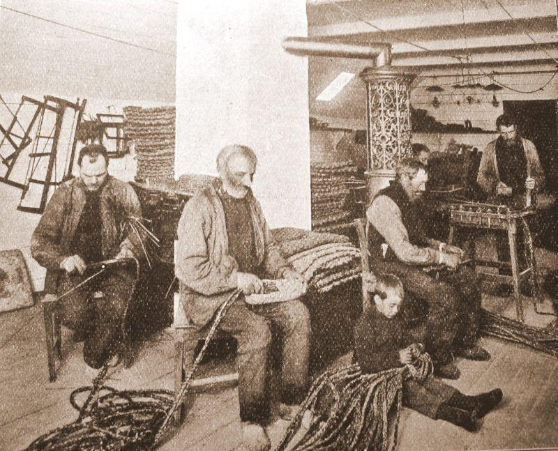 Arbejdsstue på fattiggård 1914