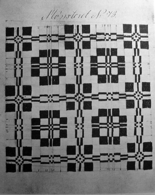 Mønster (1859) fra vævebog tilhørende væver Jørgen Jespersen, Tarup