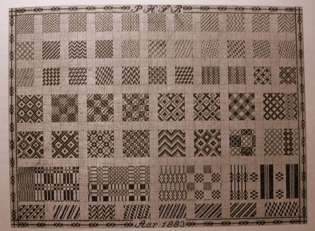 Vævemønstre tegnet af væver P.H.S. Bang, Diernæs